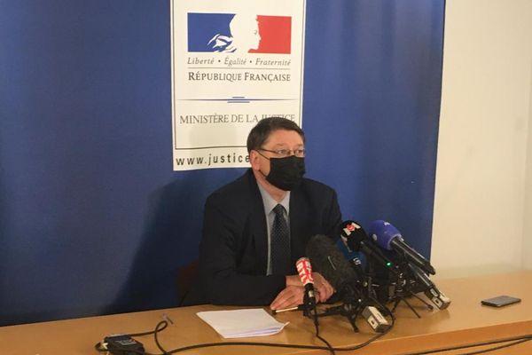 François Perain, le procureur de la République de Nancy, lors de son point presse du vendredi 23 avril.