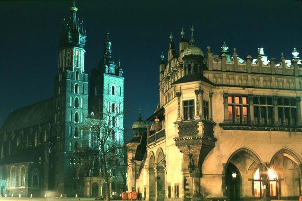 Place du marché à Cracovie.