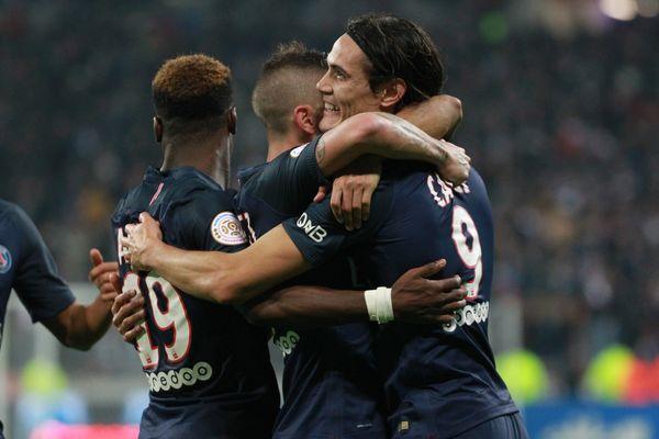Le Paris-Saint-Germain victorieux face à Lyon.