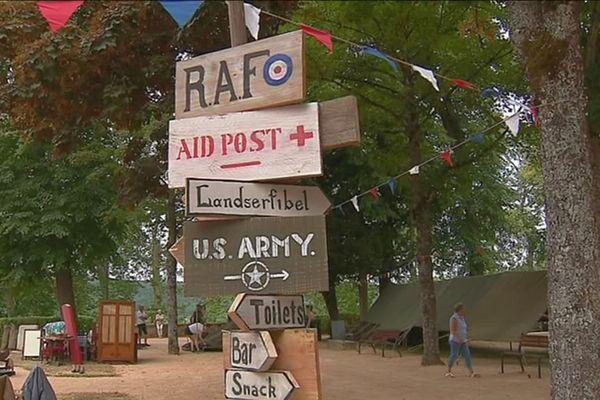 Un camp militaire de la Guerre 39-45 a été reconstitué dans le parc Buffon de Montbard.
