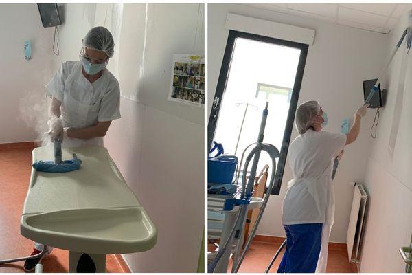 Une équipe de bio-nettoyage a mis 3 jours pour décontaminer 18 chambres qui accueillaient des patients atteints du Covid-19, à l'hôpital Pasteur de Chartres.