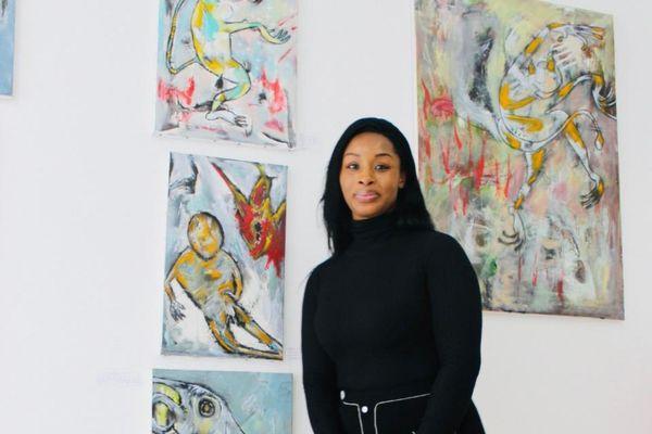 Marina-Yrime Djedjemel allias MYDE fondatrice de la galerie La Maison Melem France.