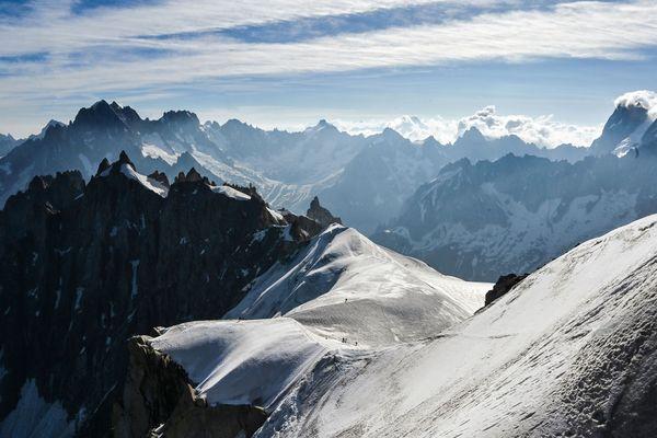 Les éboulements se sont succédés dans le massif du Mont-Blanc durant l'été, notamment à cause des fortes chaleurs. Photo d'illustration.
