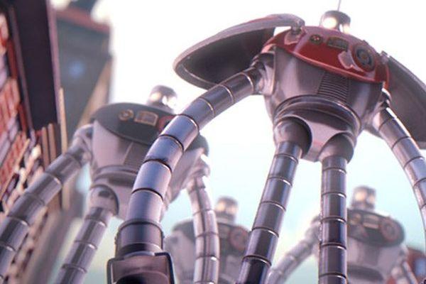 Giants robots from outer space, réalisé par Aurélien Fernandez, Elsa Lamy, Louis Ventre, Valentin Watrigant et François Guery