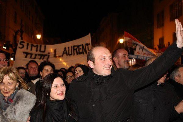 Laurent Marcangeli après son élection dimanche soir.