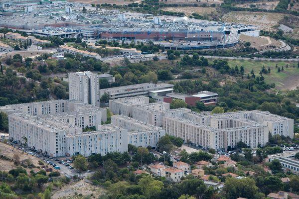 La cité de la Castellane à Marseille, haut lieu du trafic de drogue.