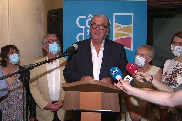 François Sauvadet, le président sortant UDI du conseil départemental de Côte-d'Or, ce dimanche 27 juin 2021.