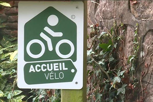 """Label """"Accueil Vélo"""" d'un gîte près de Dieppe"""
