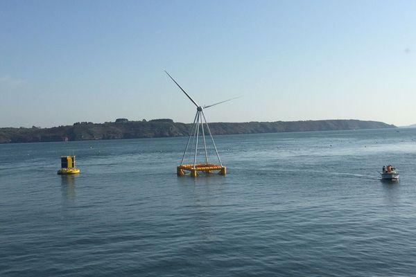 Eolienne flottante Eolink à Saint-Anne-du-Portzic près de Brest