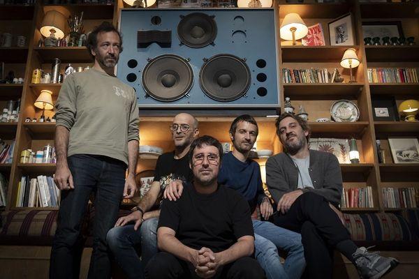 Guido Minisky, Pierrot Casanova, Nicolas Borne, Hervé Carvalho and Kenzi Bourras, membres de Acid Arab