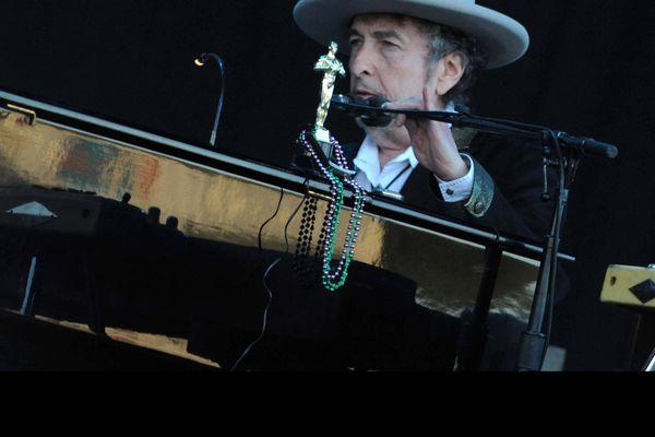 Bob Dylan lors de son concert aux Vieilles Charrues en 2012