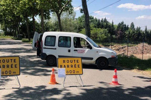 Fermeture des voies d'accès à la déchèterie de Garidech