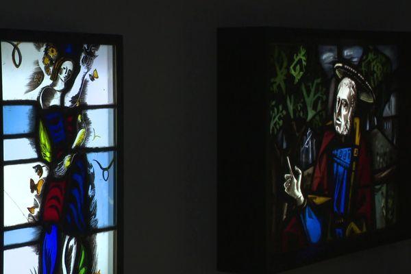 Parmi les oeuvres de Max Ingrand exposées au musée de Bressuire dans les Deux-Sèvres.