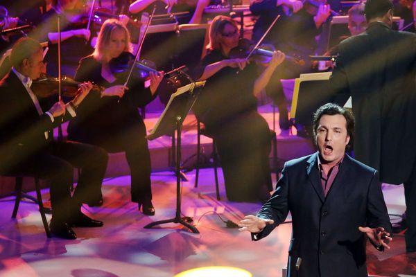 Le baryton français Ludovic Tezier durant la cérémonie des Victoires de la Musique Classique, le 25 février 2013 à Bordeaux.