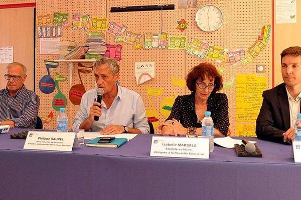 Montpellier - conférence de presse de Philippe Saurel sur la rentrée scolaire - 1er septembre 2016.