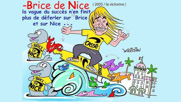 """Brice de Nice par Kristian pour le carnaval """"Roi du cinéma"""" 2019."""