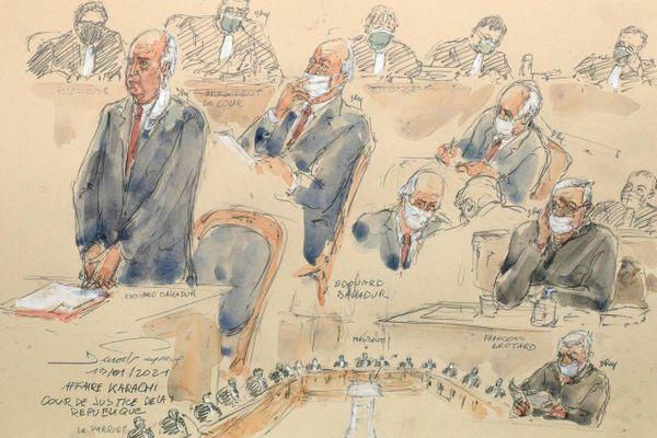 Deuxième jour du procès d'Edouard Balladur et de François Léotard, dans le cadre de l'affaire Karachi, mercredi 20 janvier 2021.