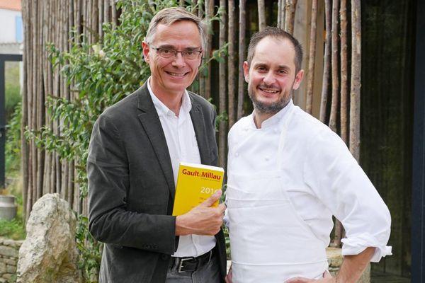 Côme de Chérisey, président de Gault&Millau, Alexandre Couillon Cuisinier de l'Année 2017