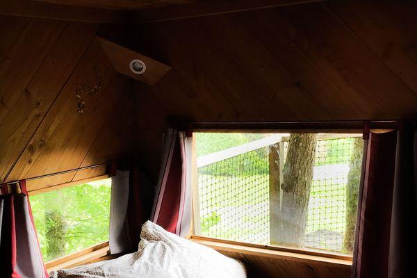 Le couchage avec vue sur la vallée de la Moselle