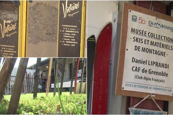 Daniel Liprandi, collectionneur isérois, a légué 140 paires de skis à la station de Chamrousse en vue de l'ouverture d'un lieu d'exposition.