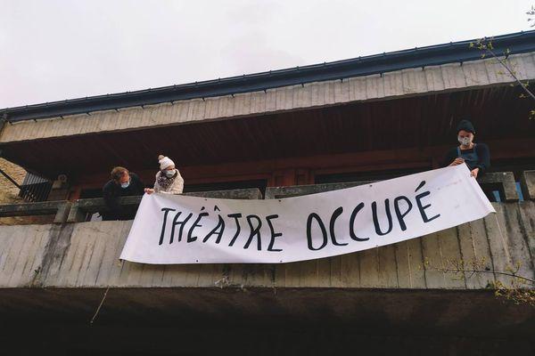 Le Théâtre de Mende est occupé par les artistes depuis mardi 16 mars 2021.