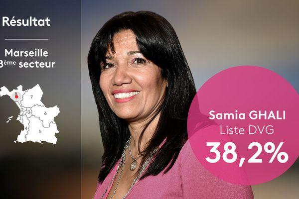Samia Ghali élue au 8ème secteur de Marseille.