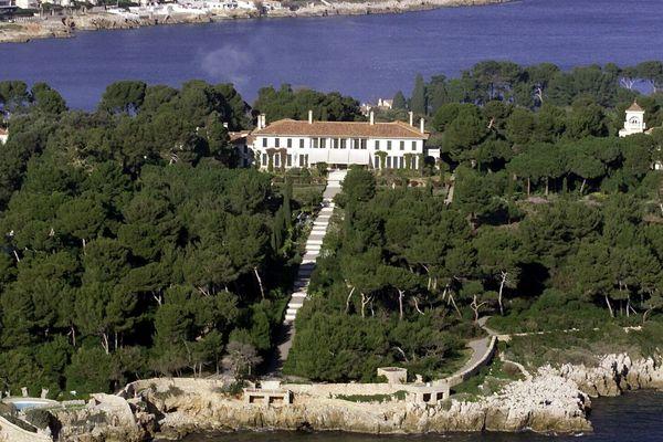 Le château de la Garoupe, situé en plein coeur du Cap d'Antibes.