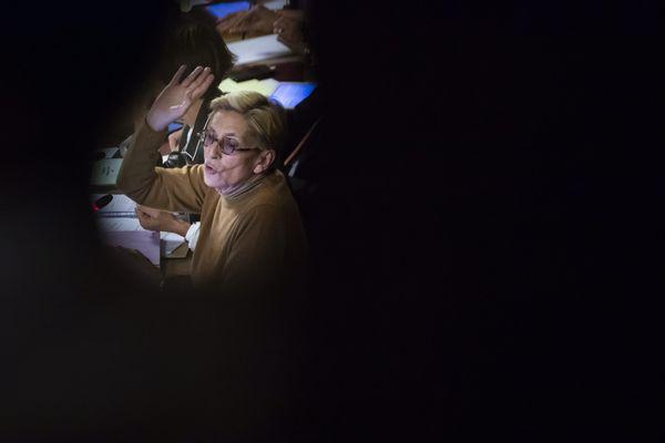 Le premier conseil municipal présidé par Isabelle Balkany, le 23 septembre 2019, après l'incarcération de Patrick Balkany.