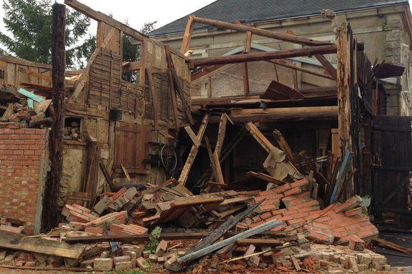 A Cloyes-sur-Marne, la quasi totalité des habitations ont été touchées par les intempéries