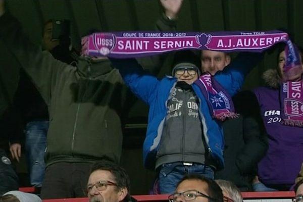 L'AJ Auxerre s'est imposée 4-1 face au club de division honneur de Saint-Sernin-du-Bois, en Saône-et-Loire, dans le cadre du 7e tour de la Coupe de France samedi 12 novembre 2016.