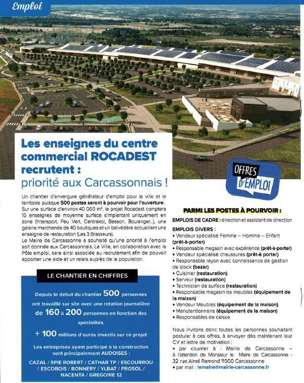 La page du bulletin municipal de Carcassonne de septembre 2021 qui fait appel aux candidatures.