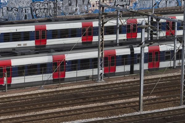 Une rame de RER à Paris (illustration).