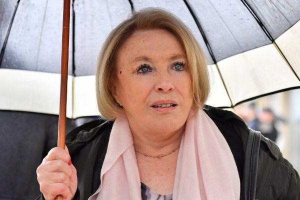 Maryse Joissains-Masini, à son arrivée au tribunal (Montpellier)