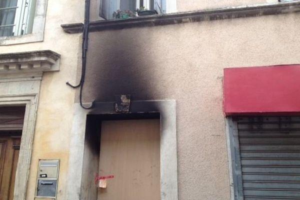 L'incendie mortel a eu lieu dans cet immeuble, situé rue Sadi-Carnot, à Lunel