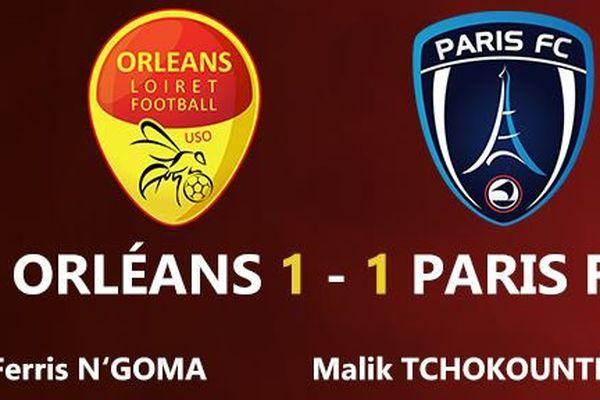 Match nul pour l'USO qui recevait le Paris FC