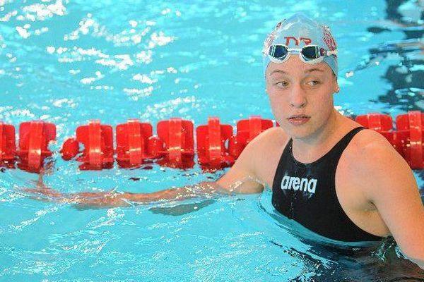Léa Marchal à Dijon le 07 décembre 2013 lors des Championnats de France élite.