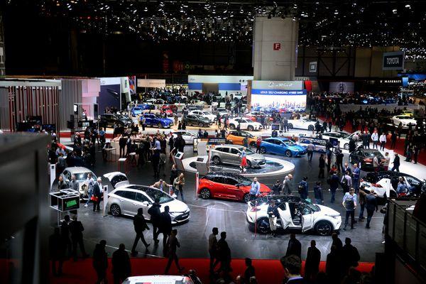 Le salon de l'automobile de Genève le 9 mars 2019.