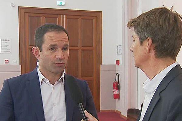 Perpignan - Benoît Hamon invité du 19/20 Languedoc-Roussillon - 31 octobre 2017.