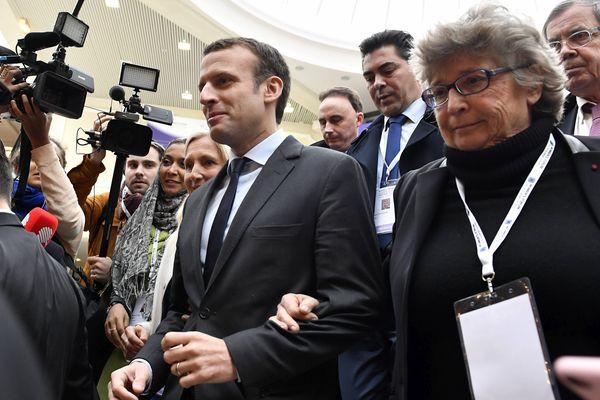 Emmanuel Macron était l'invité du Women's forum à Deauville le vendredi 2 décembre 2016