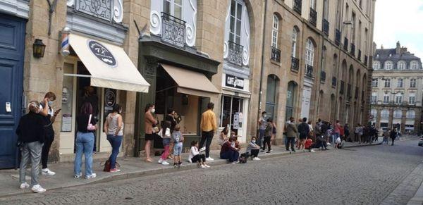 Plus de deux heures d'attente pour faire un test dans le centre de Rennes