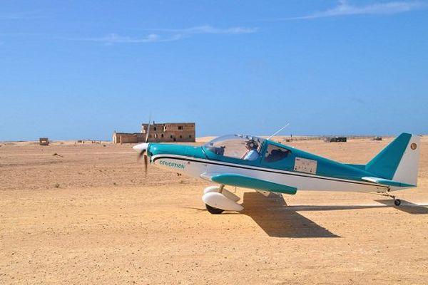L'un des appareils du raid Latécoère en escale à Tarfaya (Maroc) lors d'une précédente édition