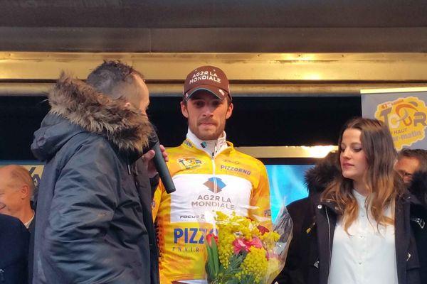 Ben Gastauer (AG2R La Mondiale), vainqueur de la 1ère étape du 47ème Tour du Haut-Var, le 21 février 2015