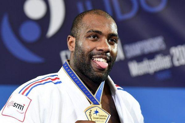 Médaille d'or pour Teddy Riner à Montpellier le 26 avril 2014