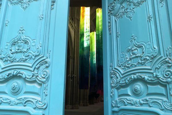 La basilique Saint-Vincent est une des étapes du Parcours Vitrail visible à Metz