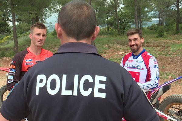 Téo Calairo et Hugo Blanjoue mènent leur carrière de sportifs de haut niveau au sein de la Police nationale.
