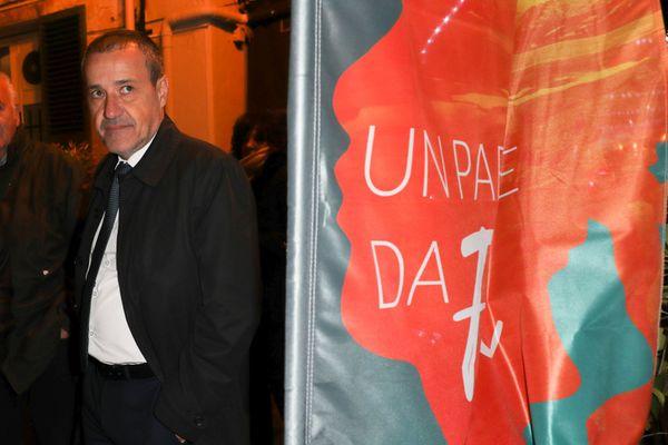 Jean-Guy Talamoni lors de la campagne des territoriales de 2017.