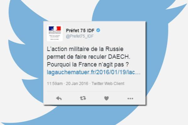 Le tweet polémique de la préfecture de Paris et Ile-de-France