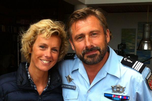 Les héros de la série meurtres, les comédiens Anne Richard et Bernard Yerlès.