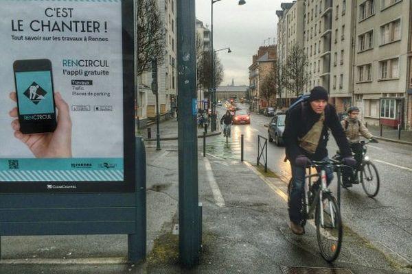 La campagne de pub à Rennes pour l'appli Renn Circul