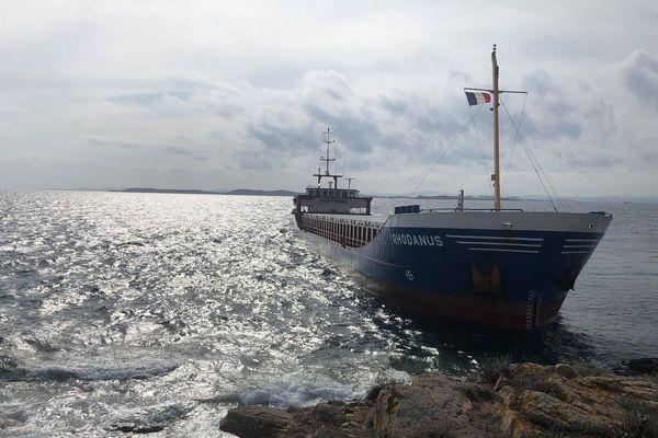 Le cargo Rhodanus s'est échoué dimanche le 13 octobre dernier dans les Bouches de Bonifacio